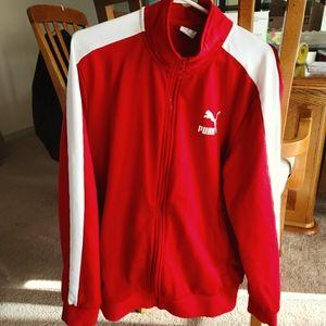 EUC Zip Up Puma Sweater **